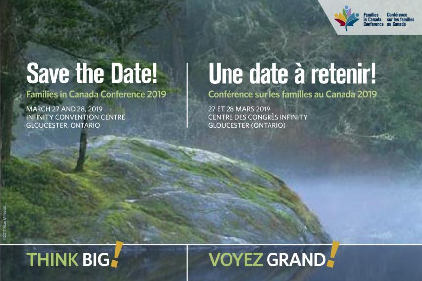 Save the Date notice for the Families in Canada Conference