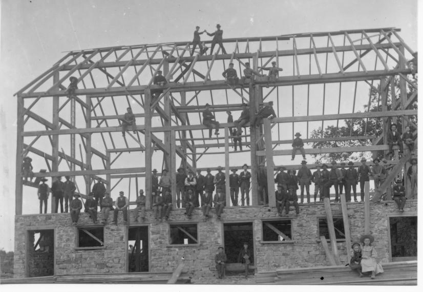 Barn raising from 1912