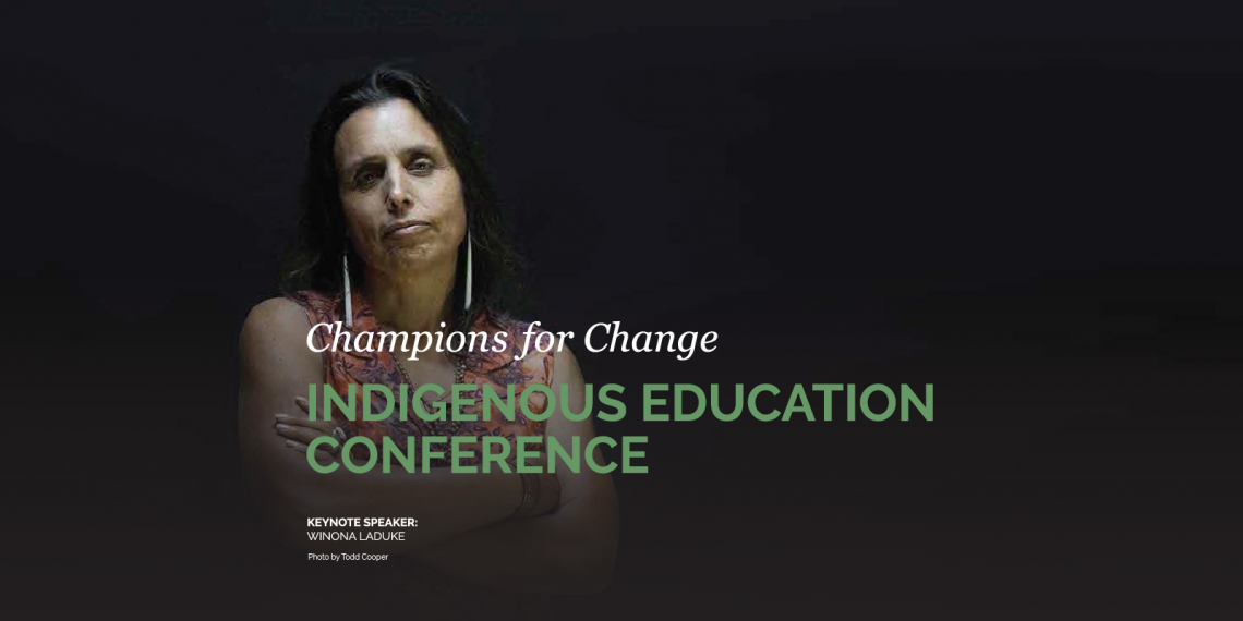 Champions for Change Keynote Speaker: Winona Laduke