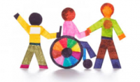 A graphic of 3 people depicting inclusiveness